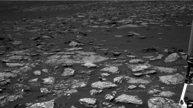 This Dec. 2, 2016 image taken by NASA's Curiosity rover shows rocky ground on the lower flank of Mount Sharp, a mountain on Mars.