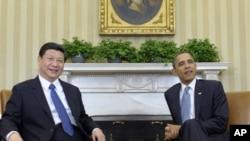 美國總統奧巴馬和中國國家副主席習近平星期二在白宮會晤
