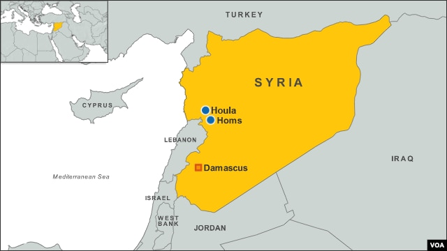 Map of Houla, Syria