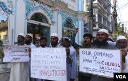 Người Hồi giáo tham gia biểu tình với người Công giáo phản đối vụ cưỡng hiếp nữ tu cao tuổi tại một tu viện ở Ấn Độ.