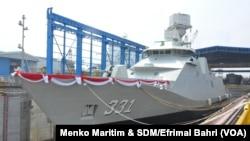 Kapal Perusak Kawal Rudal (PKR) pesanan Kementrian Pertahanan RI (Foto: Menko Maritim & SDM/Efrimal Bahri)
