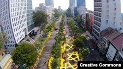 Quang cảnh đường hoa Sài Gòn Tết Ất Mùi 2015.