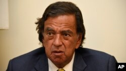FILE - During an interview with the Associated Press, Former New Mexico Gov. Bill Richardson speaks during an interview with the Associated Press, Jan. 24, 2018.