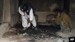 Qandahorda otishma yuz bergan uylarning biri. Amerikalik zobit Panjvayi tumanida 16 afg'onni otib o'ldirgan. 11-mart, 2012-yil.