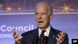 Phó Tổng thống Mỹ Joe Biden phát biểu tại hội nghị thượng đỉnh năng lượng ở Istanbul, Thổ Nhĩ Kỳ, 22/11/2014.