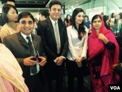 Malala came to Washington to talk about women's rights and unveil a trailer for her new documentary, Aug. 30, 2015. (Rahman Bunairee/VOA News)