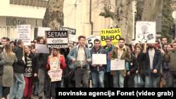 Studenti su najavili veliki protest za april na kojem će vlasti pokazati za šta su sposobni, Foto: video grab