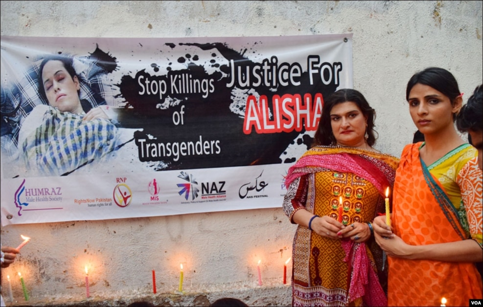 علیشہ نامی خواجہ سرا کو پشاور میں فائرنگ کا نشانہ بنایا گیا تھا، جبکہ اسپتال میں علاج کی مشکلات کے سبب اُن کی موت واقع ہوئی