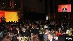美國前國務卿基辛格在一個致力促進美中關係的會上發表講話。