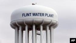 오염된 식수 사태로 어려로 겪고 있는 미국 미시간 주 플린트 시의 물 저장 시설. (자료사진)
