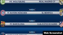 Tirage au sort de la Ligue des Champions, quarts de finale, vendredi 18 mars 2016.