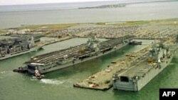 美國維吉尼亞州港口城市諾福克是美軍海軍基地。