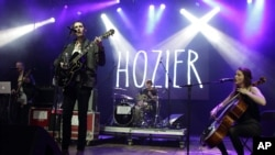Andrew Hozier-Byrne of the band Hozier performs in concert during the Sweetlife Festival at Merriweather Post Pavilion on May 10, 2014, in Columbia, Maryland.
