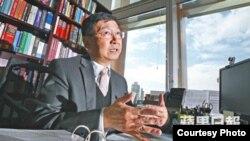 香港大学前法学院院长陈文敏教授(苹果日报图片)