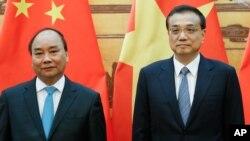 越南总理阮春福与李克强在北京举行会面(2016年9月12日)