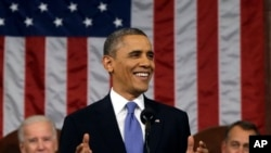2013年2月12日晚上奥巴马总统向国会两院发表国情咨文讲话