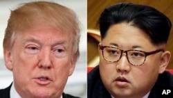 အေမရိကန္သမၼတနဲ႔ ေျမာက္ကိုရီးယားေခါင္းေဆာင္ Kim Jong Un.