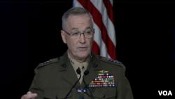 美軍參聯會主席鄧福德上將2016年9月21日在空軍協會年會上講話 (美國國防部視頻截圖)