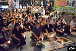 支聯會舉辦燭光集會要求北京釋放劉曉波。(美國之音湯惠芸)