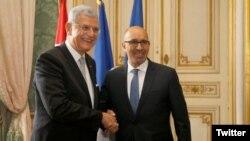 Volkan Bozkır, Fransa'nın AB İşlerinden Sorumlu Devlet Bakanı Harlem Desir ile çalışma öğle yemeğinde bir araya geldi.