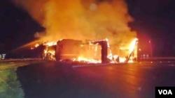Masjid di kota Joplin, negara bagian Missouri yang habis terbakar pada Senin 6 Agustus dini hari (foto: Imam Lahmuddin).