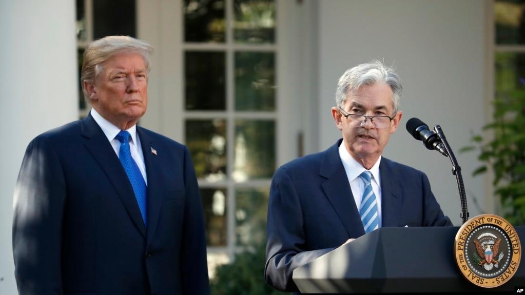 Ông Jerome Powell phát biểu sau khi Tổng thống Donald Trump loan báo ông là người được đề cử cho chức vụ chủ tịch kế tiếp của Cục Dự trữ Liên bang tại Vườn Hồng Nhà Trắng ở Washington, ngày 2 tháng 11, 2017.
