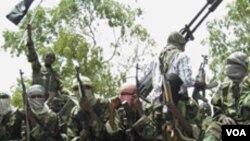 Miembros de la milicia terrorista somalí al-Shabab, al que varias fuentes de inteligencia han relacionado con Al Qaeda.