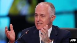 特恩布尔2018年3月18日在澳大利亚-东盟峰会上讲话(法新社)