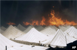 Fire at the Hajj in 1997.