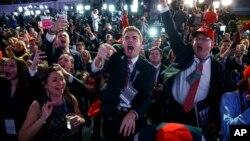 En images : Donald Trump remporte l'élection présidentielle 2016