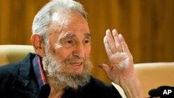 古巴前領導人菲德爾.卡斯特羅(資料圖片)