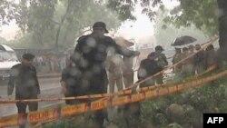 Індійська поліція на місці терористичної атаки у Делі