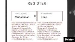 Muhammad Zakir Khan menunjukkan namanya diblokade oleh perusahaan Epic Games pada postingnya di Twitter (foto; dok).