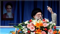 Iran's Supreme Leader Ayatollah Ali Khamenei speaks in the province of Kermanshah, west of Tehran, October 15, 2011.