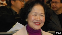 前政務司司長陳方安生認為,人大釋法對香港司法獨立有一定的負面影響(美國之音湯惠芸)