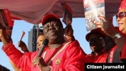 MDC president Morgan Tsvangirai and deputy Thokozani Khupe