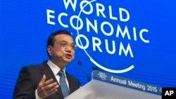 中国总理李克强在瑞士达沃斯世界经济论坛上讲话 (2015年1月21日)