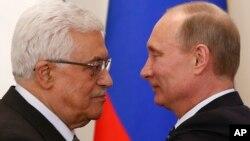 Rencontre Mahmoud Abbas-Vladimir Poutine, résidence de Novo-Ogaryovo, près de Moscou, Russie, le 14 mars 2013.