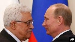 Махмуд Аббас и Владимир Путин на встрече в Ново-Огарево. Москва, Россия. 14 марта 2013 года
