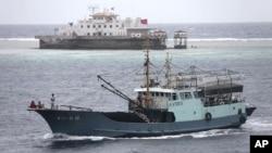 지난 20일 남중국해상의 고기잡이 어선.