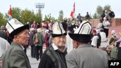 Демонстрация в городе Ош