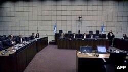 Зал заседания специального трибунала по Ливану в Гааге.