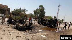 Mesto eksplozije, Bagdad 15. avgust 2013.