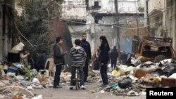 شهر جنگزده حمص - ۲۷ ژانویه ۲۰۱۴