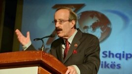 Rep. Eliot L. Engel (D-NY) at VOA Albanian Service 70th Anniversary