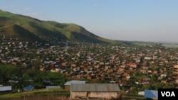 La cité de Nyamilima dans le Territoire de Rutshuru au Nord de Goma, 1er Juin 2017.
