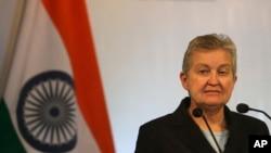 FILE - U.S. Ambassador to India Nancy Powell.