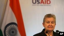 美國駐印度大使南希鮑威爾(資料圖片)