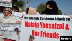 Protest against attack on Malala