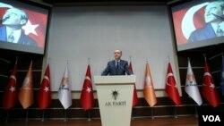 سخرانی رجب طیب اردوغان رئیس جمهوری ترکیه پس از عضویت مجدد در حزب حاکم عدالت و توسعه - ۱۲ اردیبهشت ۱۳۹۶